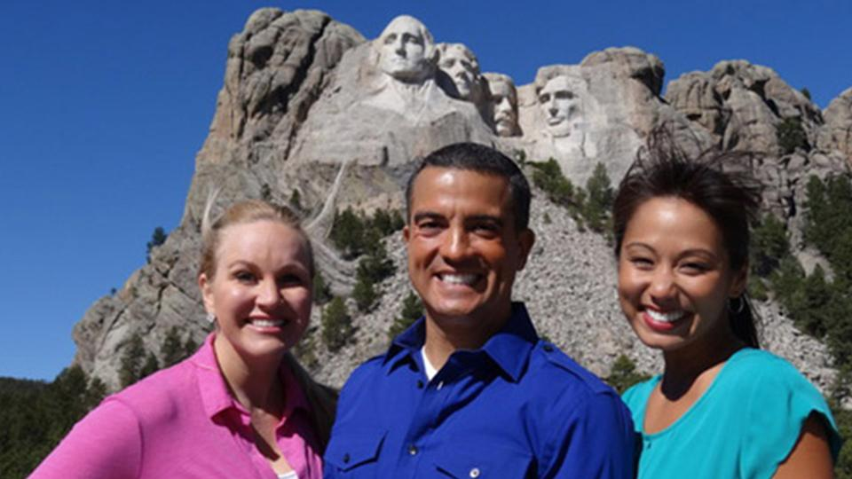 The Clue Crew at Mount Rushmore
