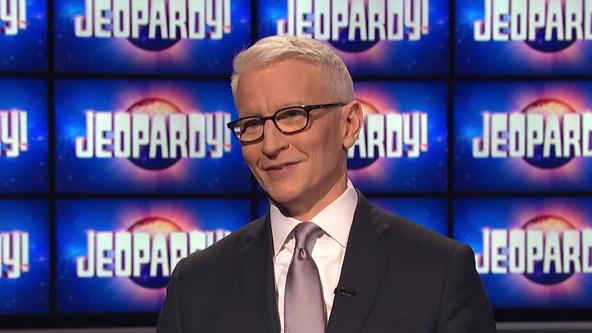 Anderson Cooper on the Jeopardy! stage